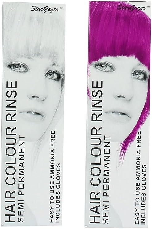 2 x de hada pelo color Rinse Semi Permanente Pelo Color ...