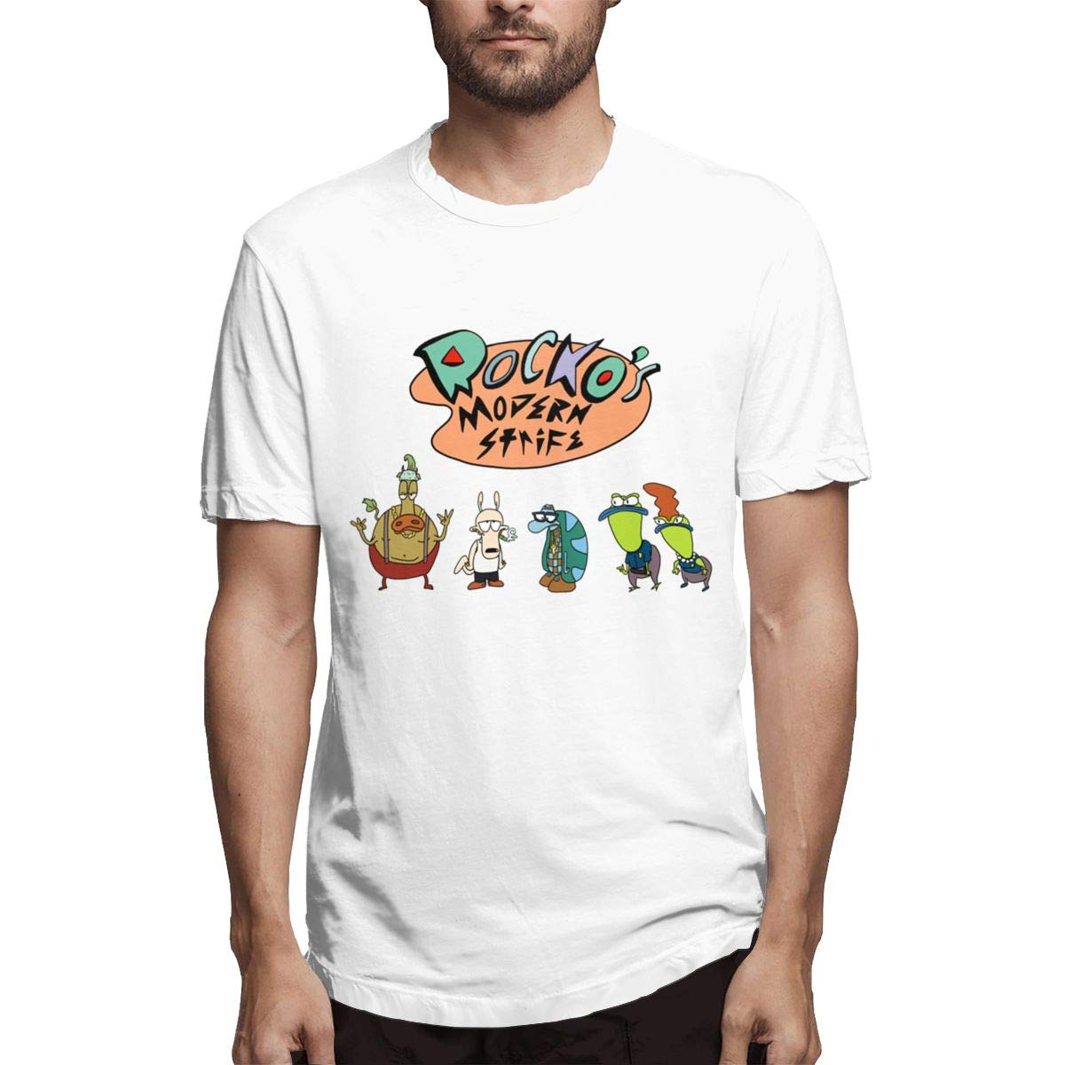 Rocko's Modern Life Funny Crew Neck Short Sleeve For T Shirt