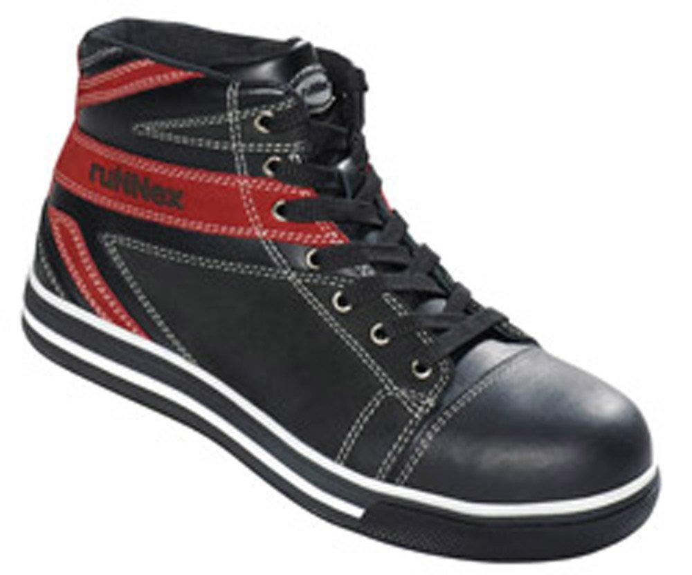 RuNNex Sicherheitsschuhe Arbeitsschuhe S3 Hochschuh schwarz rot EN ISO 20345 A 1 2007 S 3 (schwarz-rot 39)