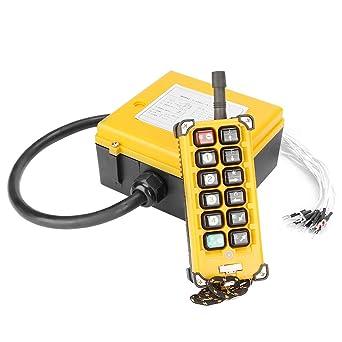 12V MXBAOHENG T/él/écommande de palan sans fil PF21-2S pour grue 1 /émetteur et 1 r/écepteur