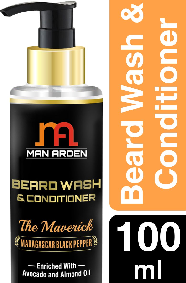 Man Arden Maverick Beard Wash Shampoo & Conditioner (With Avocado & Almond Oil, No Sulphate/Paraben), 100ml product image