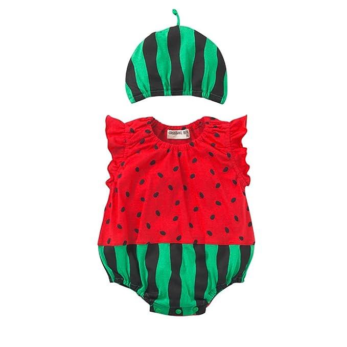 08f7aba397c Norbi Cute Newborn Baby Comfy Romper Bodysuit Watermelon  Amazon.ca ...