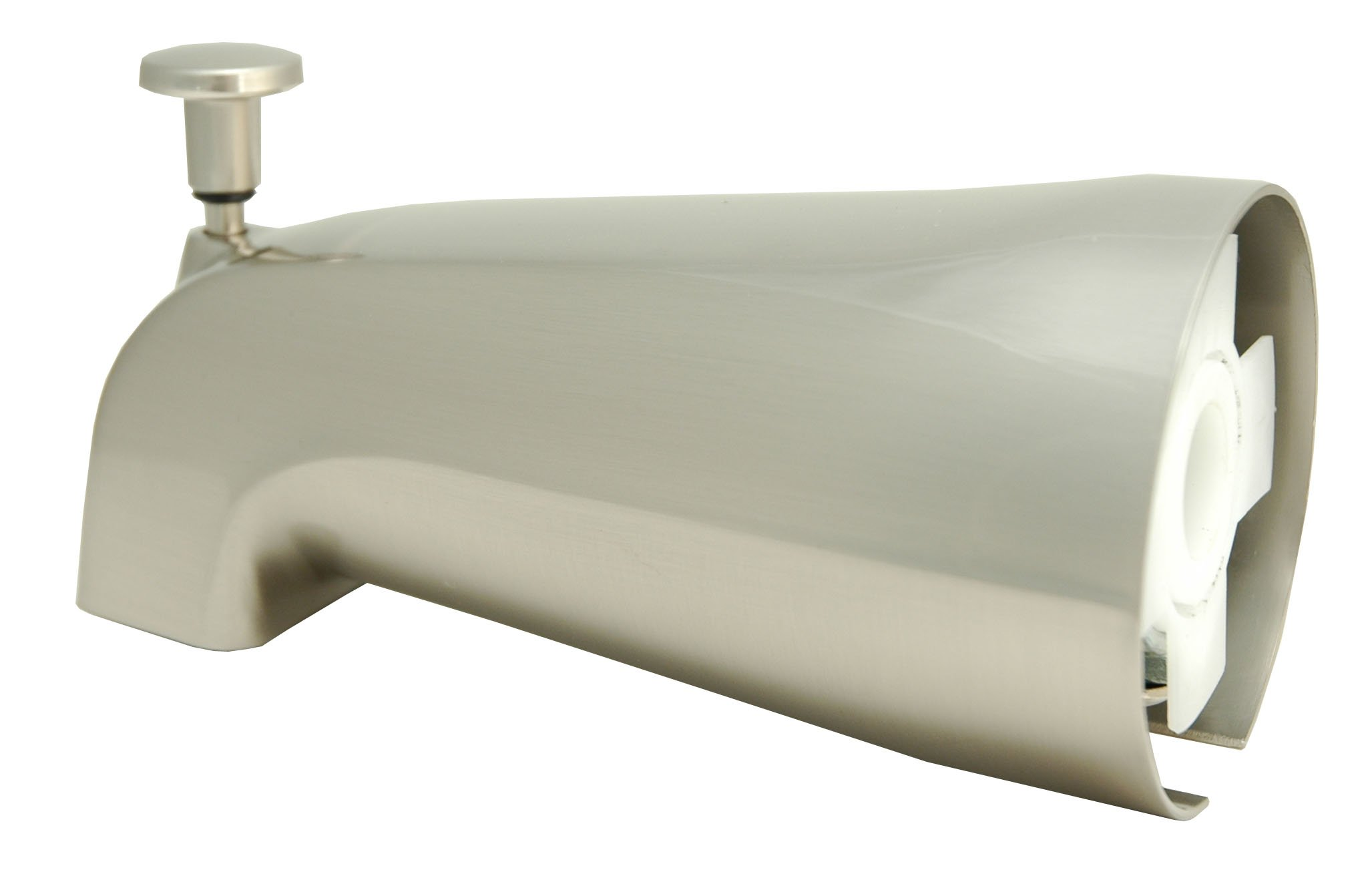 Tub Diverter Spout, Satin Nickel Finish, Slide on Type - By Plumb USA by PlumbUSA