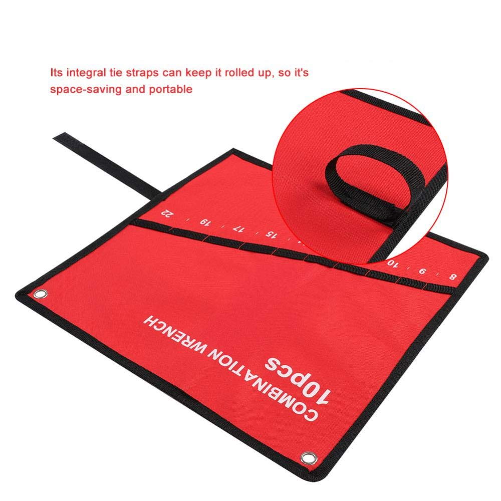bolsa multibolsillo Wrench organizador para artesanos de madera Bolsa de herramientas enrollable bolsa de almacenamiento llave inglesa