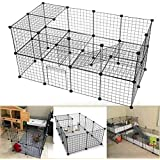 Kilodor 36 pcs DIY Pet Dog Playpen Small Animal Cage for Guinea Pigs, Puppy,Hamster Cat Portable Fence Outdoor & Indoor
