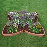 Clover Shaped Outdoor Planter Garden Bed Frame Raised Gardening Kit | 2 Inch Thick |10'x10' Length