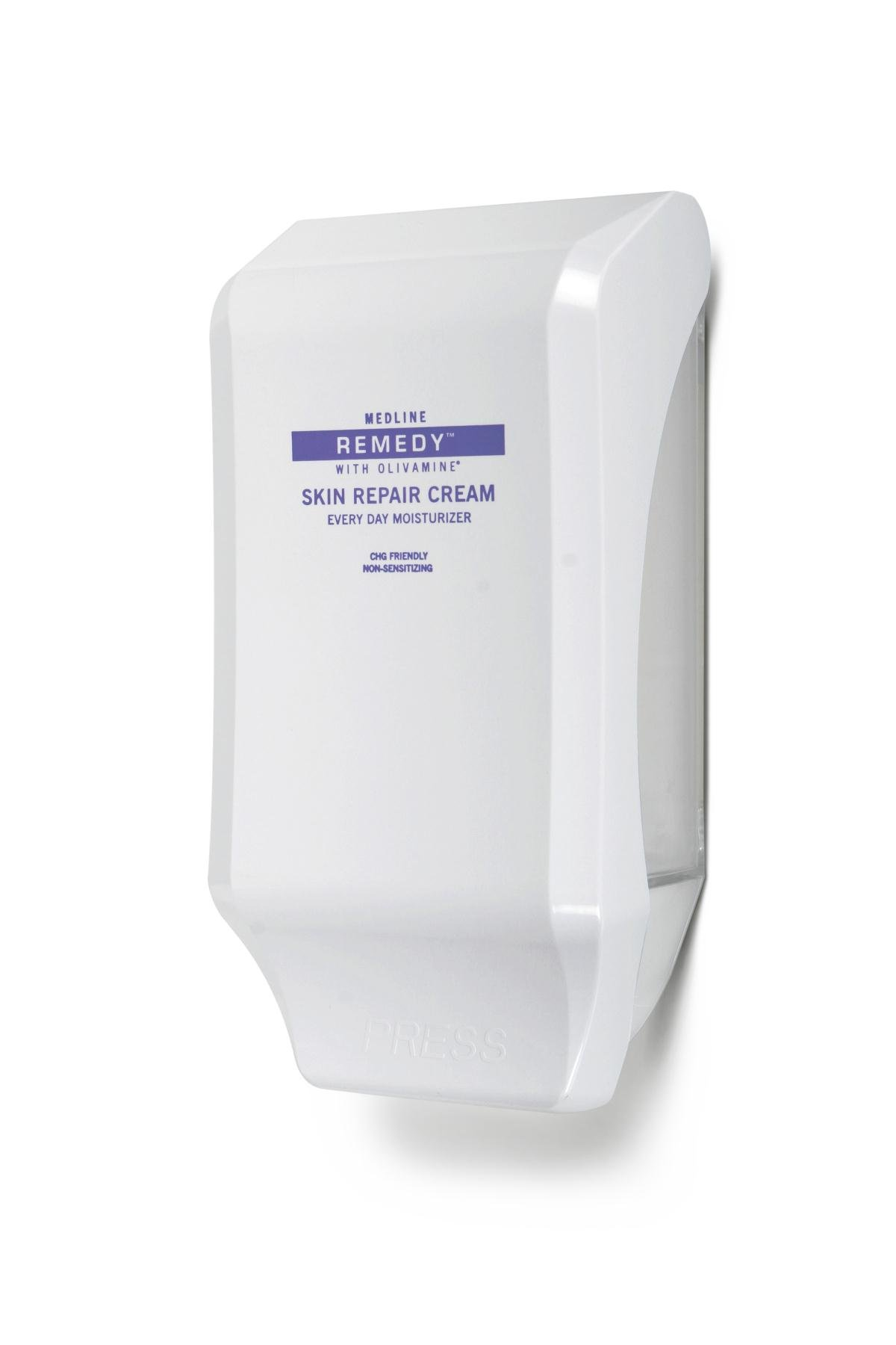 Medline MSC094412WD Remedy Skin Repair Cream Wall Dispensers, White (Case of 12)