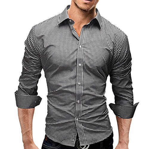Mens Fitted Shirts - Smooth Comfortable Dress Shirts for Men Regular Fit Designer Shirt Formal Business Office Work Casual Special Occasion Size XL