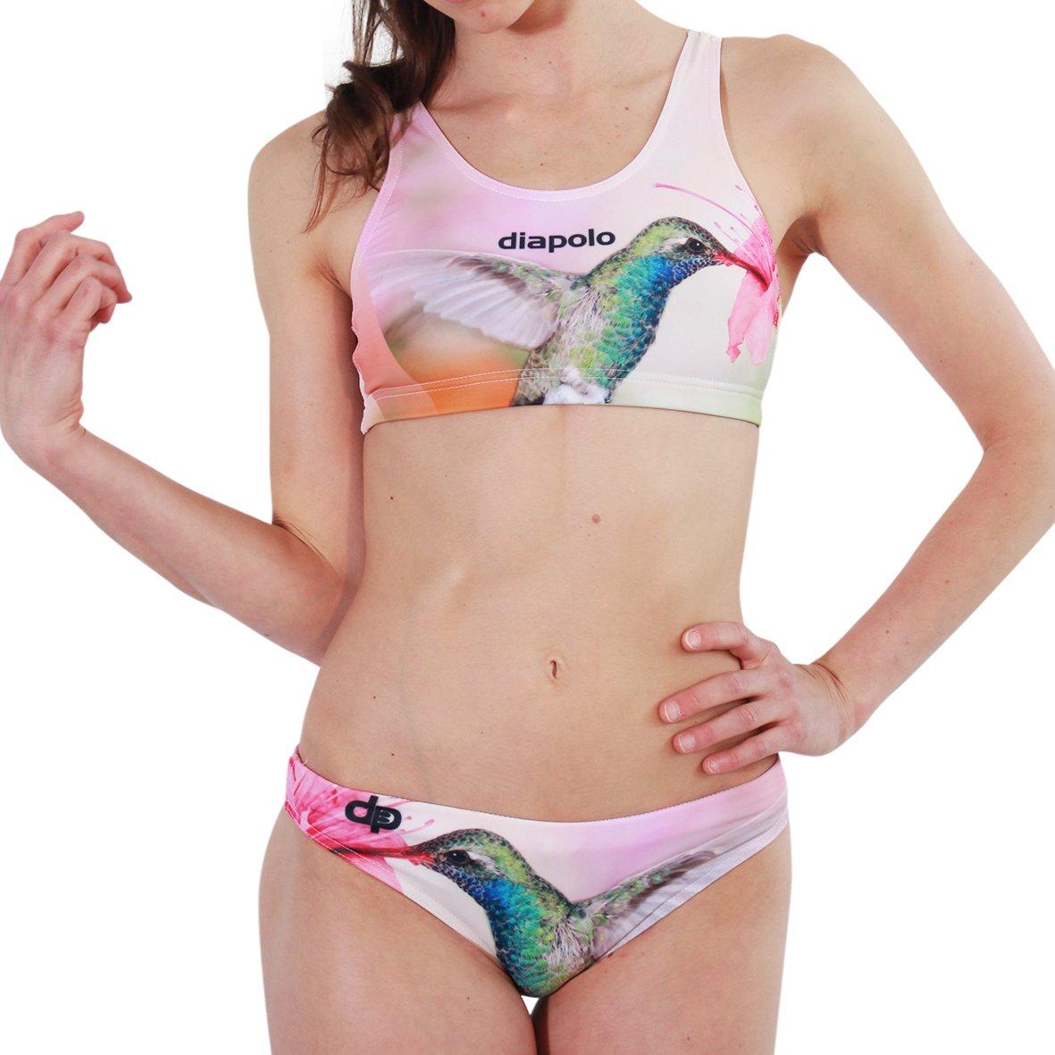 Diapolo Kolibri Sport-Bikini Zweiteiler aus der Wild Animals Kollektion für Schwimmen Synchronschwimmen Wasserball Thriathlon