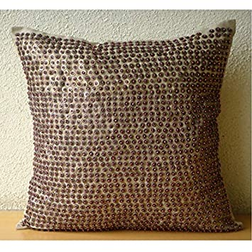 Amazon.com: Lujo café decorativo almohada cubierta ...