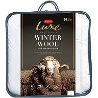 Tontine Luxe Australian Winter Wool Quilt, Queen, White