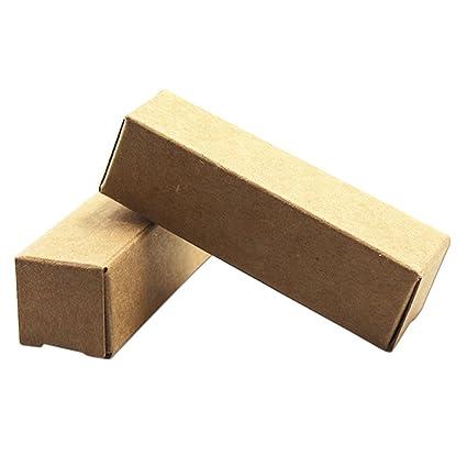71a57f1937a MITOB 100 Pcs Brown Kraft Paper Box Lipstick Perfume Cosmetic Nail Polish Gift  Packaging Box For