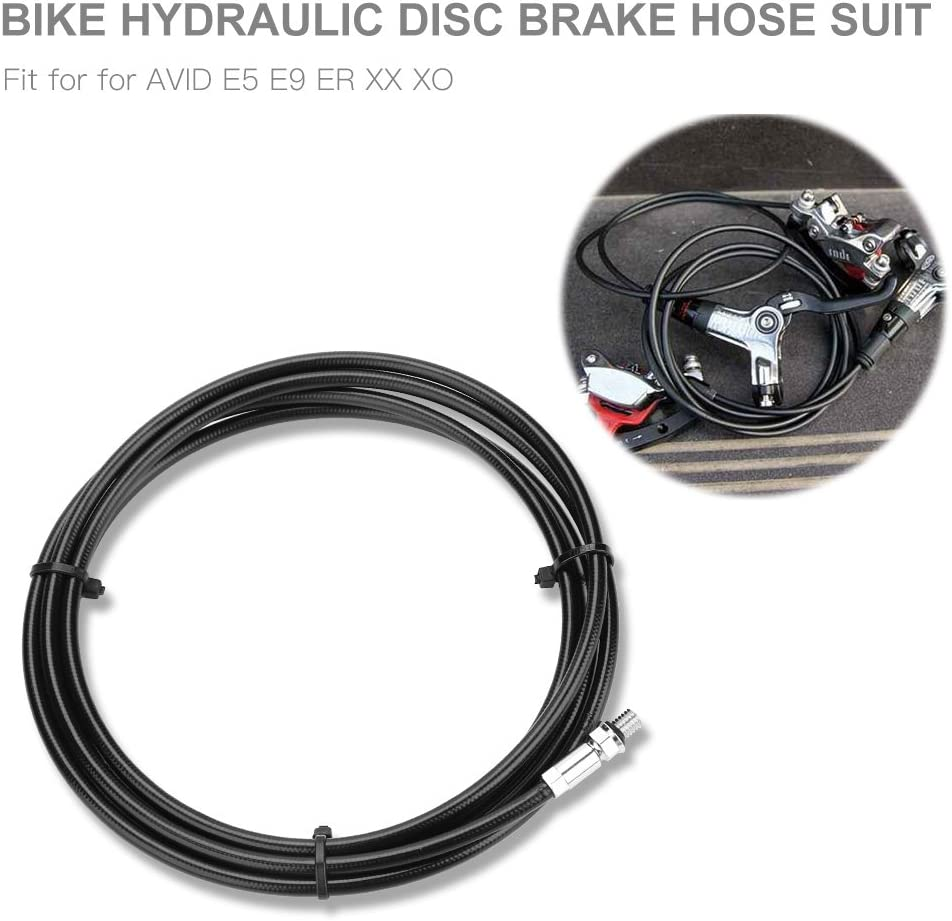Brake Hose Kit,Including 3m Hydraulic Brake Oil Tube and 4Pcs Olive and Connector Inserts for Mountain Bike Replacement
