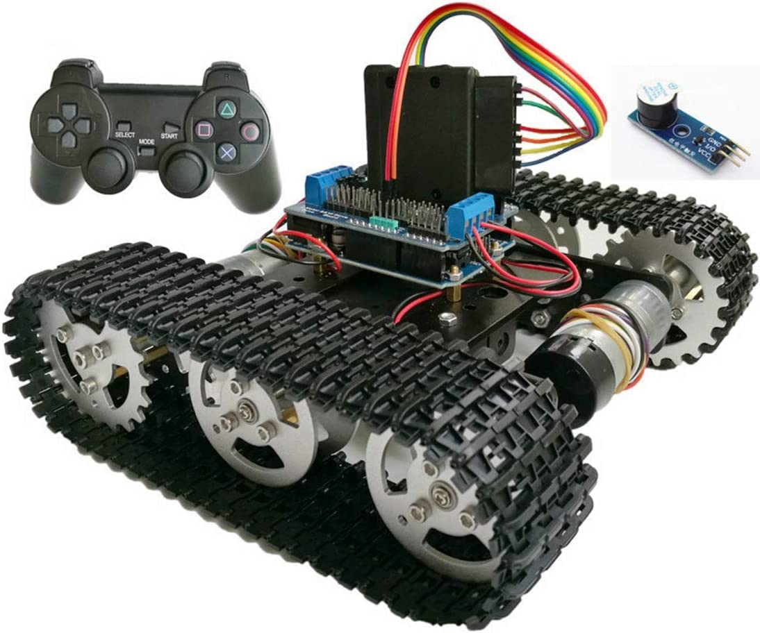 HARLT Control Inalámbrico Inteligente RC Robot Kit De PS2 Joystick Depósito del Chasis del Coche con El Motor Uno R3 Escudo De Bricolaje Juego De Playstation