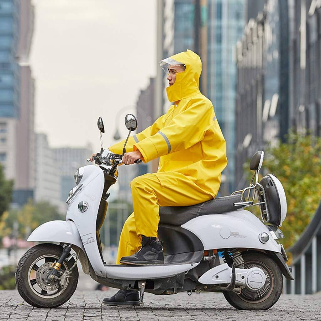jaune XXXL WXFO Pantalon de Pluie imperméable imperméable imperméable imperméable Multifonctionnel de Poncho Pliable Multifonctionnel extérieur (Couleur   bleu, Taille   XXL)