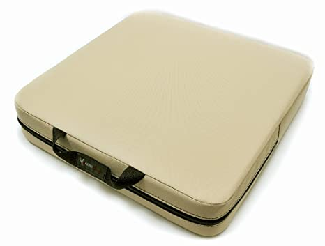 """Bottom Only Black Gray or Tan 3/"""" Thick Aircraft Seat Cushion by AeroPhoenix"""