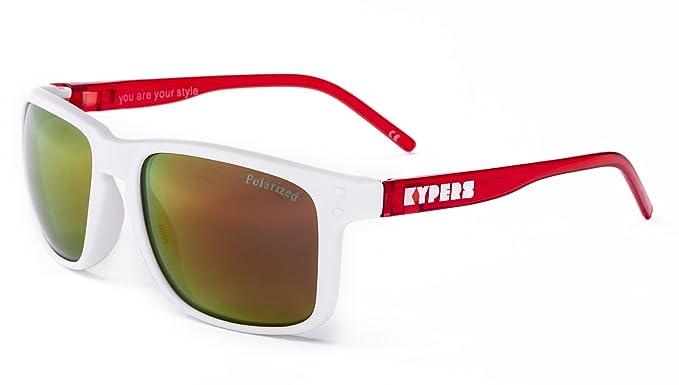 KYPERS Coconut, Gafas de Sol Unisex, Matte White-Red Mirror ...
