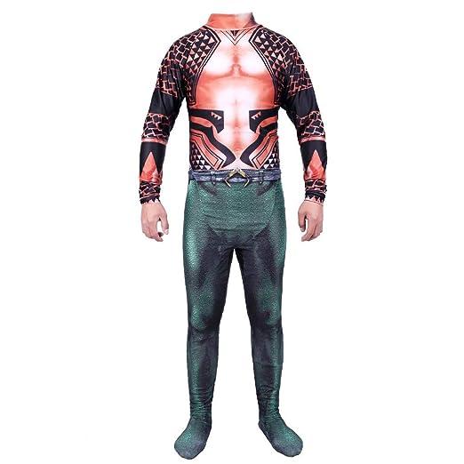 WEGCJU Traje De Superhéro Aquaman Cosplay Disfraz Traje Traje De ...