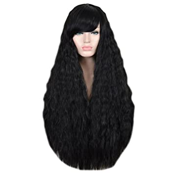 Amazon Com Aibelly 85cm Synthetic Full Wig Hair Heat