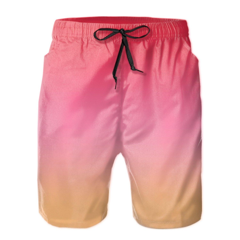 TRSL Red Mens Beachwear Quick Dry Beach Shorts Fashion Watershort