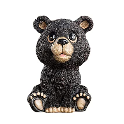 1a15e2edc Image Unavailable. Image not available for. Color: FLYING BALLOON Cute  Black Bear Animals Shaped Resin Spectacles Holder Shelf Coin Bank Home  Decoration ...