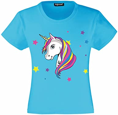 5ad5f00a2 Unicorn T-Shirt Girls Kids Unicorn T Shirt Tee Top Ages 3 to 15 Years:  Amazon.co.uk: Clothing