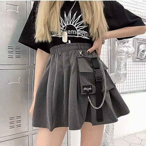HSDFKD Faldas De Mujer Cintura Alta Bud Mini Falda Estilo Punk ...