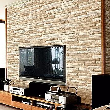 Moderne Fernsehen Hintergrund Wand Dreidimensionale Ziegel Ziegel