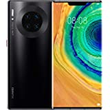 "Huawei Mate 30 Pro 4G Smartphone, Dual  SIM, 256GB memory, 8GB RAM, 6.53"" curved screen, Quad Camera - Black"