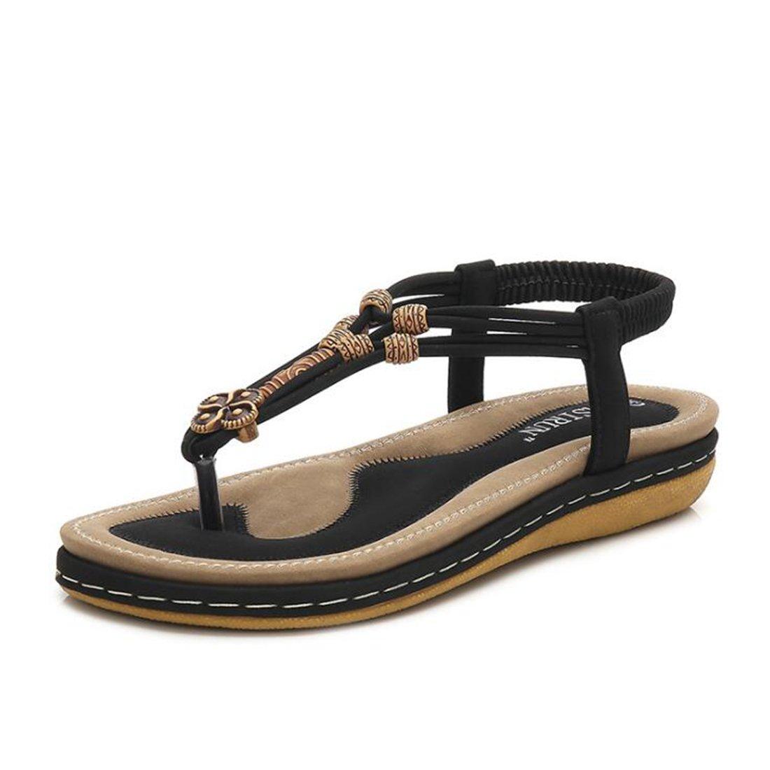 Frauen Sommer Sandalen Mode Rouml;mischen Sandalen Plateau Sandalen Sandalen  44 EU|Black