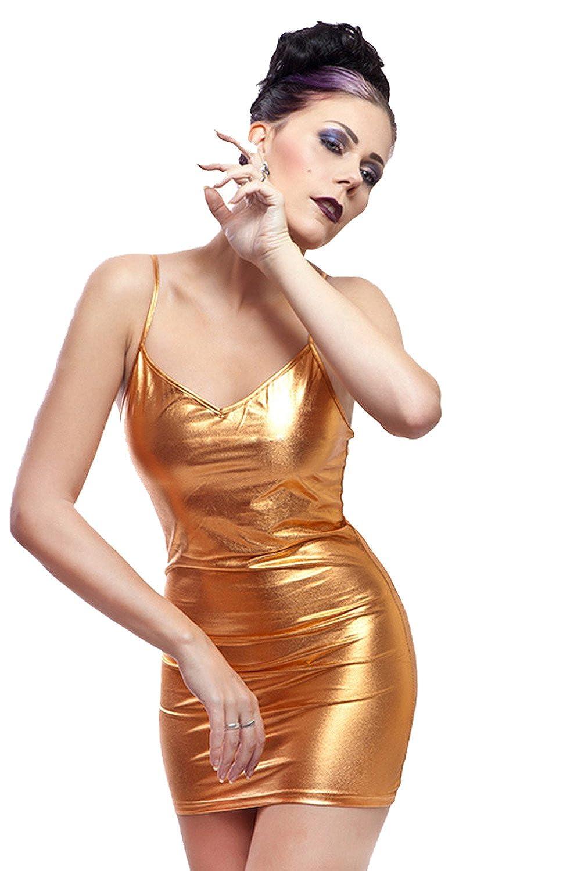Your Fetish World Lycra Disco Mini Vestido: Amazon.es: Ropa ...