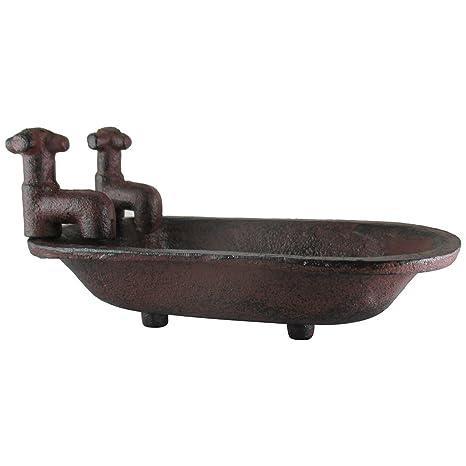 Amazoncom Ud Clawfoot Bathtub Soap Dish Rustic Cast Iron W Faucets