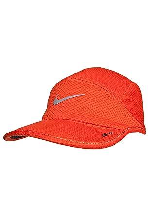 de329e170d0 Amazon.com  Nike Mesh Daybreak Running Hat Orange Reflective Silver Size  One Size  Clothing