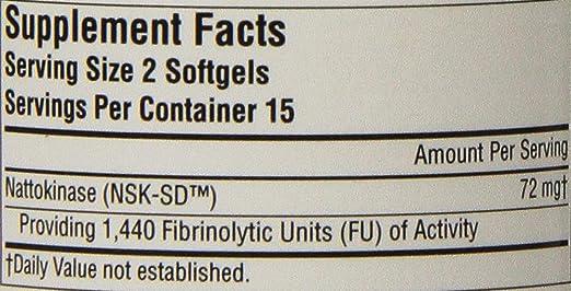 Nattokinase - 36 mg 720 FE - 30 enzimas softgels: Amazon.es ...