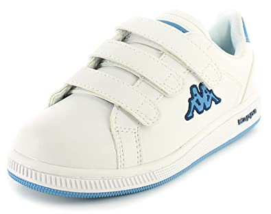 5d9c45d11f Kappa New Childrens/Infants White Giorno Touch Fastening Trainers. - White /Royal/