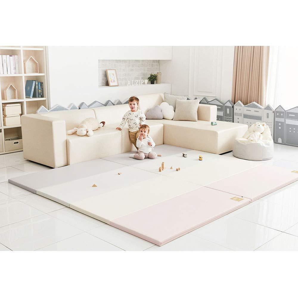 [Alzip Mat] Baby Playmat - Eco Silon Modern (Non-Toxic, Non-Slip, Waterproof) (Modern Pink, SG)