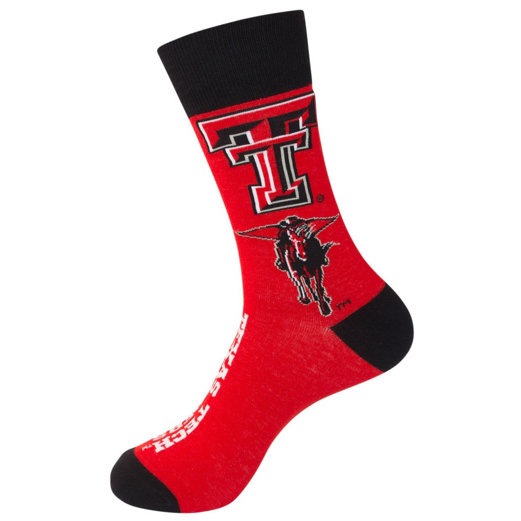 Primus Campus TTU Texas Tech University Red Raiders Crew Socks Officially Licensed Collegiate Product