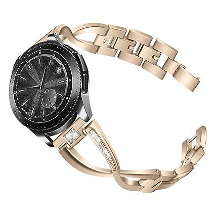 samLIKE Pulsera Reloj Samsung Galaxy, 46 mm, de Acero Inoxidable, Correa de Repuesto