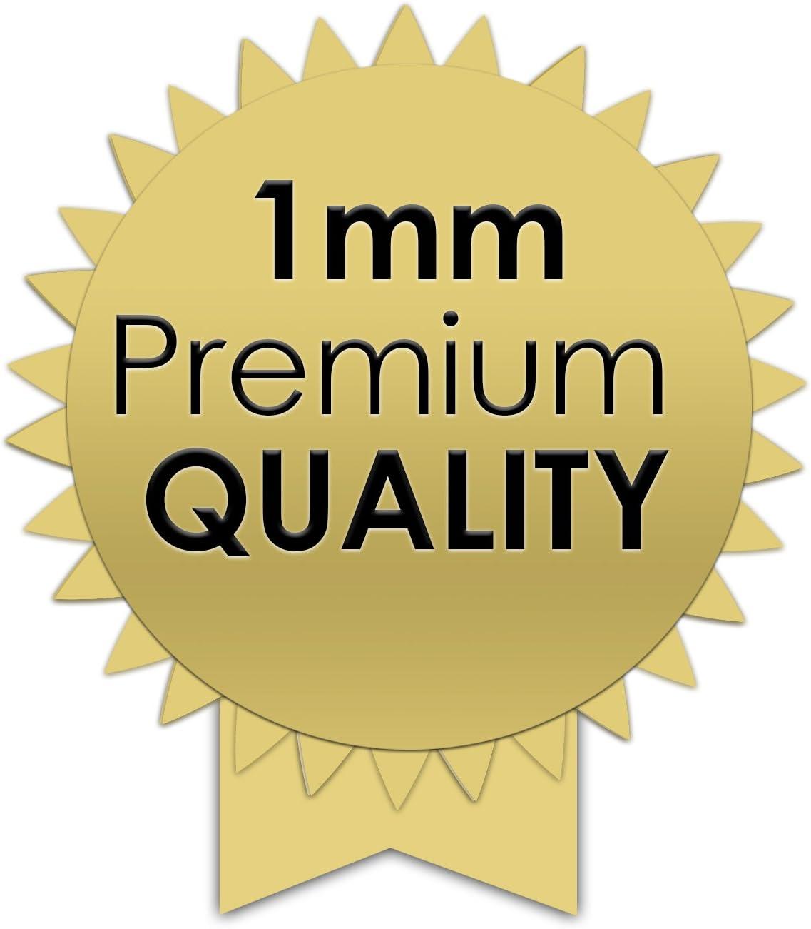 Fuchs PREMIUM profil/é pour carrelage 12,5 mm carr/é pour acier inox V2A dans brillant 10 x 2,5 m