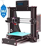 GUCOCO A8 3D Printer Upgraded Full Quality High Precision Reprap Prusa i3 DIY 3D Printer with 1.75mm ABS/PLA Filament(Build Size 200×200×180mm) (A8 Prusa i3 3D Printer。)