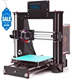 GUCOCO A8 Desktop DIY 3D Drucker Selbstmontage Prusa i3 Kit Upgradest High Precision Selbstbauen 3D Drucker mit LCD Bildschirm (Plattformgröße 200 * 200 * 180mm)