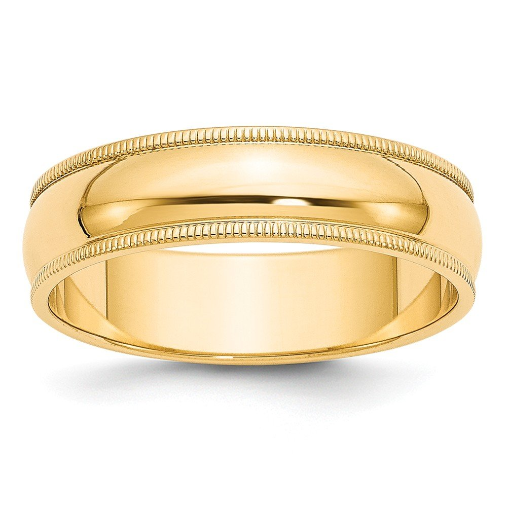 Jewelry Best Seller 14k 6mm Milgrain Half-Round Wedding Band
