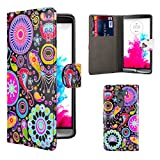 32nd® Design book wallet PU leather case cover for LG G3 (D855), including screen protector and cloth - Jellyfish