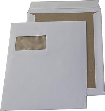 7d46e8543e 100 St. C4 Papprückwand Versandtaschen weiß mit Fenster 120 gr. Kuvert  Haftklebend Briefumschläge HK