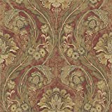 Mayflower Wallpaper Morissey (Red Gold) Green Bronze Victorian Arts Crafts Classic