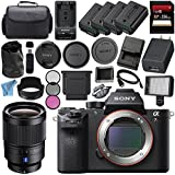 Sony ILCE7RM2/B Alpha a7R II Mirrorless Digital Camera (Body Only) + Sony Distagon T FE 35mm f/1.4 ZA Lens SEL35F14Z + 256GB SDXC Card + NP-FW50 Lithium Ion Battery + External Rapid Charger Bundle