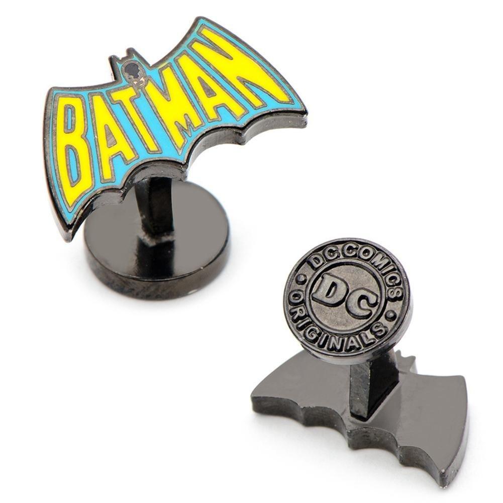 Official DC Comics Batman Retro Logo versilbert Manschettenknöpfe - Boxed Cufflinks Inc DC-BAT-VTG