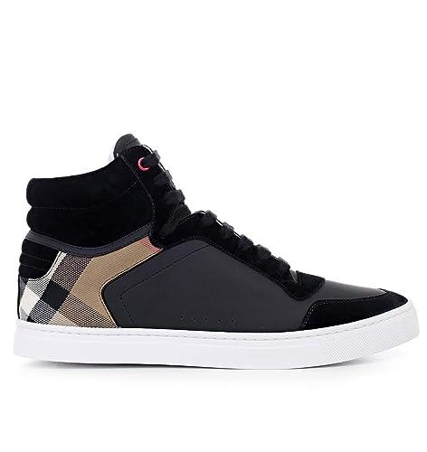 Burberry Scarpe Sneaker Alte Stivaletto Uomo in Pelle e