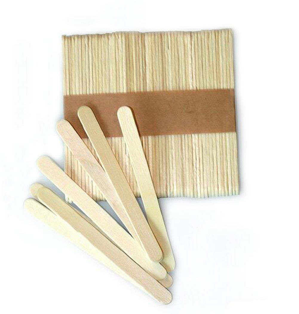 100piezas de madera Craft de incienso palos de helado Popsicle–Juego de palos de madera natural erioctry