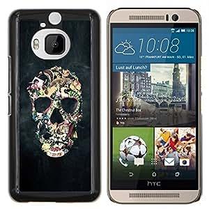 Stuss Case / Funda Carcasa protectora - Biker Humo Negro cráneo Vida Muerte - HTC One M9Plus M9+ M9 Plus
